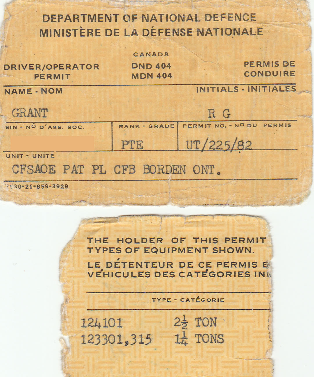 Military Drivers License